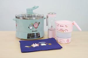【廚具用品】日本家電山崎電器Sanki聯乘P助與粉紅兔兔  推出智能升降養生鍋/旅行摺疊水壺/迷你便攜攪拌機