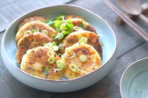 【中式食譜】口感豐富!3步完成簡單家常小菜 金黃香脆煎薯仔餅