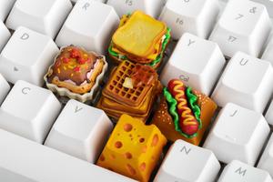 【Keyboard鍵】外國設計公司推出食物造型keyboard鍵 超像真窩夫/熱狗/芝士