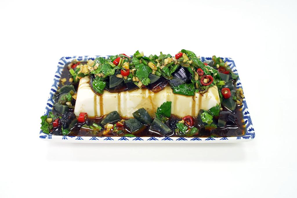 【涼拌食譜】3步零失敗整出開胃前菜  涼拌尖椒皮蛋豆腐食譜