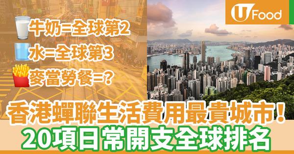 【香港樓價】香港蟬聯全球生活成本最昂貴城市!20項日常開支/物價國際排名