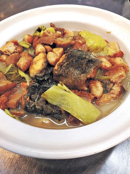 食店難捱#鹹菜蒜子燜油𩺬