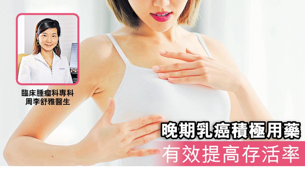 「晚期乳癌積極用藥有效提高存活率」