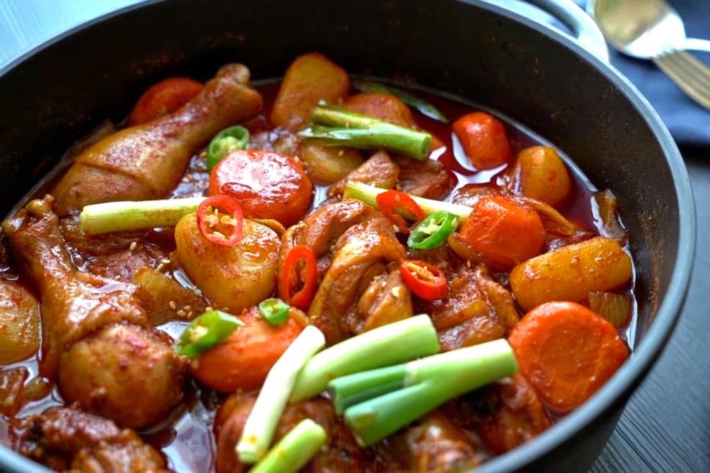 【韓國菜食譜】超簡易一鍋到底料理!   零難度韓式辣燉雞