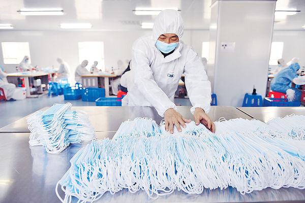 中國對口罩及藥物的壟斷力量