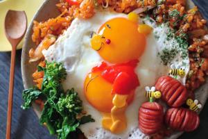 【卡通飯盒】日本媽媽巧手自製卡通料理 小熊維尼/反斗奇兵/櫻桃小丸子