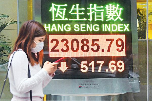 經濟復甦無期 滙豐拖累氣氛 港股23000關岌岌可危
