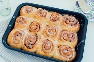【麵包食譜】簡單易上手!零難度麵包食譜    鬆軟肉桂提子麵包卷