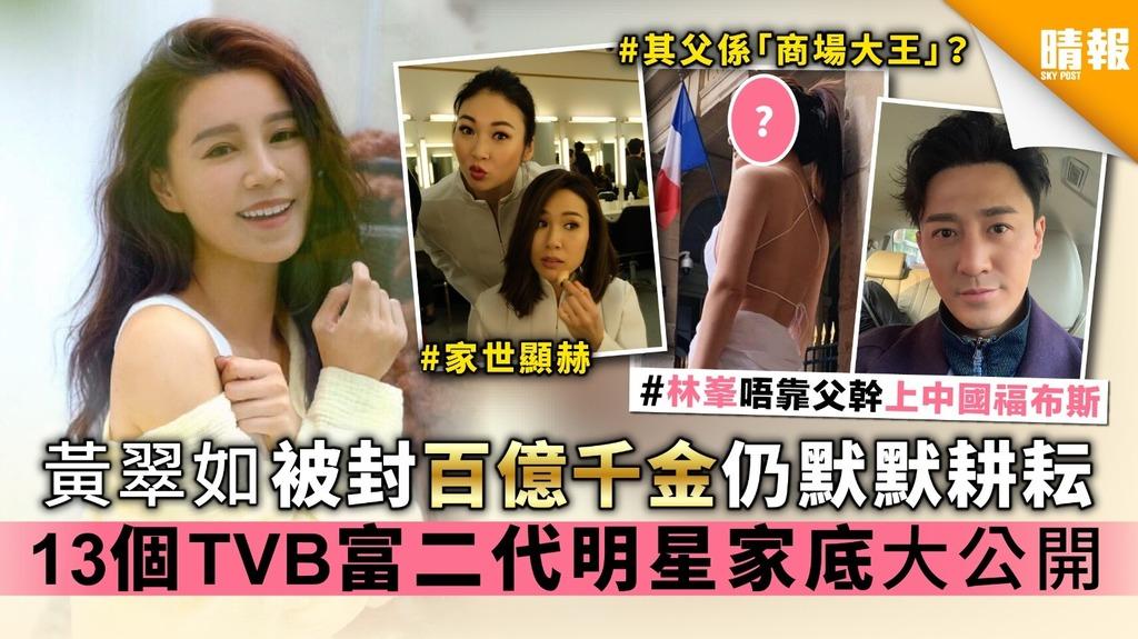 【個個出身唔簡單】黃翠如曾被封百億千金仍默默耕耘 13個TVB富二代明星家底大公開