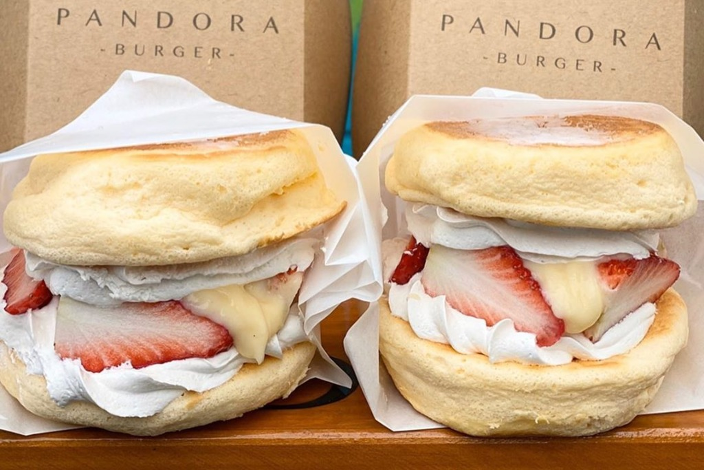 【日本甜品】日本人氣疏乎厘班戟漢堡店「Pandora」 香甜士多啤梨/粒粒濃郁朱古力多款口味
