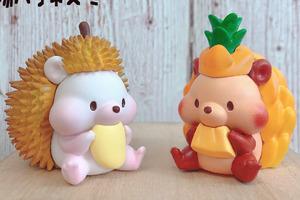 【刺蝟精品】台灣精品網店推出水果造型刺蝟擺設 刺蝟食到面頰肥嘟嘟好可愛!