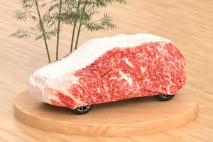 【日本精品】日本設計師搞笑創意精品  超像真肥牛汽車保護套