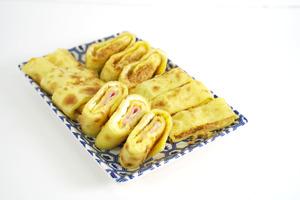 【台式小食】簡易自製台式經典早餐   一次整兩款口味! 流心芝士火腿/肉鬆口味