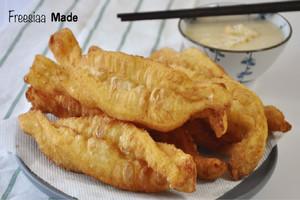 【中式點心】熱辣辣新鮮自家製   金黃香脆鬆軟油炸鬼