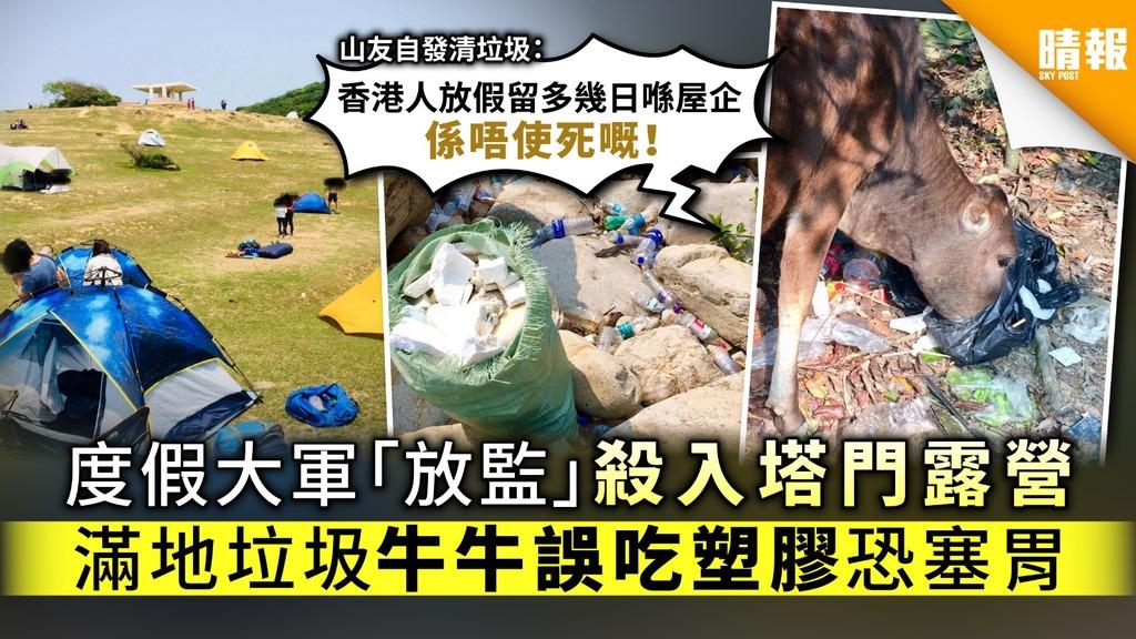 【復活節假期】長洲西貢大澳四圍遊 度假大軍塔門露營滿地垃圾 牛牛誤吃塑膠恐塞胃