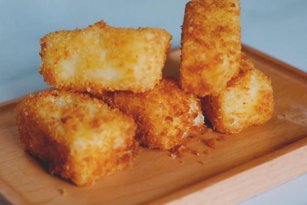 【牛奶食譜】簡易自製香脆點心  口感滑溜金黃脆皮炸鮮奶