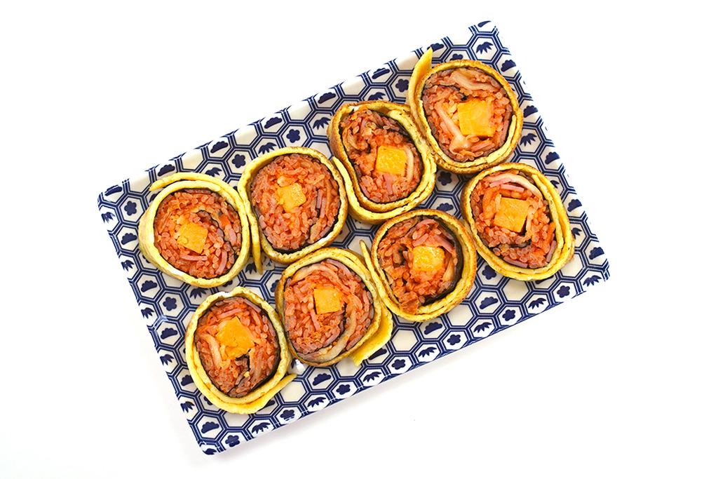 【韓國食譜】紫菜包飯升級版!3步零失敗簡易食譜  芝士泡菜雞蛋卷