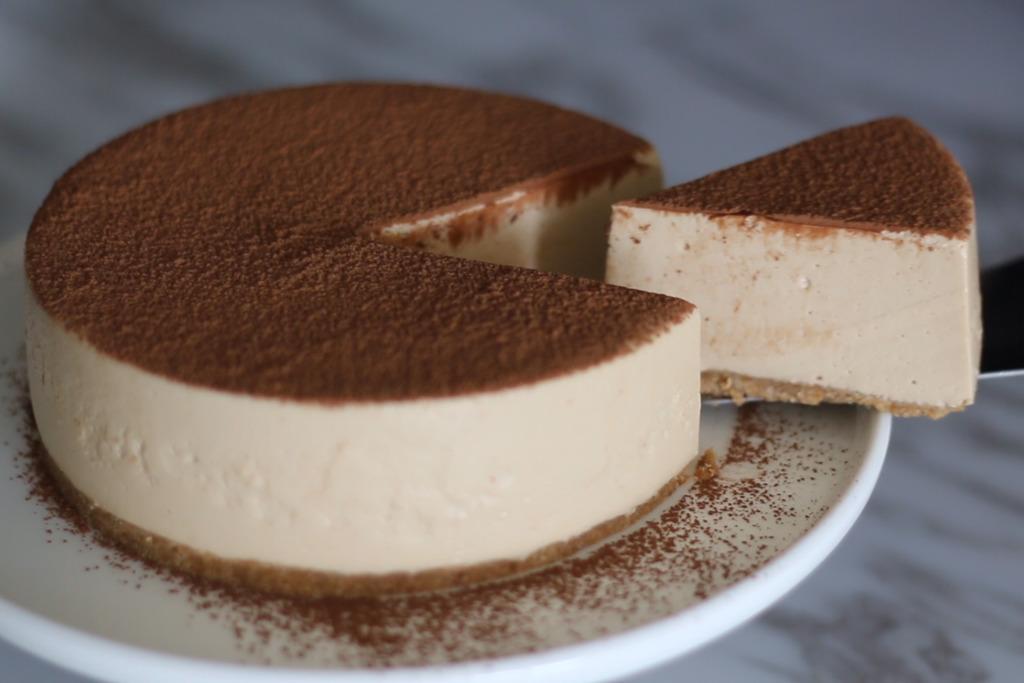 【蛋糕食譜】放假輕鬆整簡易免焗蛋糕食譜  咖啡芝士蛋糕