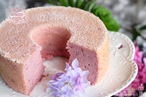 【蛋糕食譜】簡易自製夢幻甜品食譜! 超鬆軟紫薯戚風蛋糕