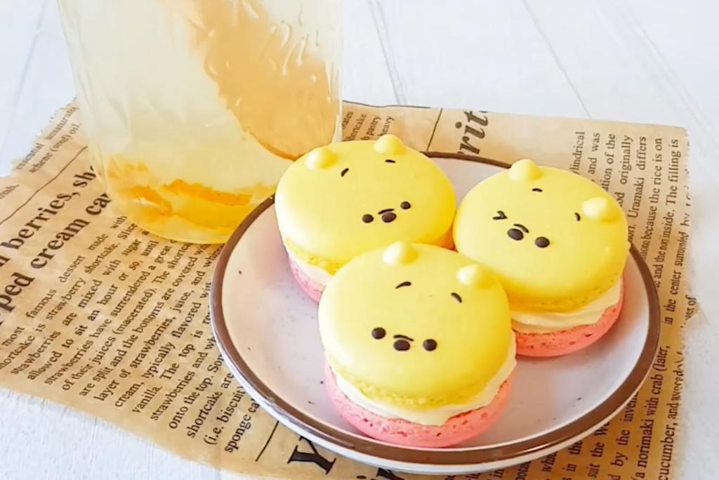 【Winnie the Pooh】自家製小熊維尼Macaron 唧出圓碌碌Pooh Pooh 法式馬卡龍