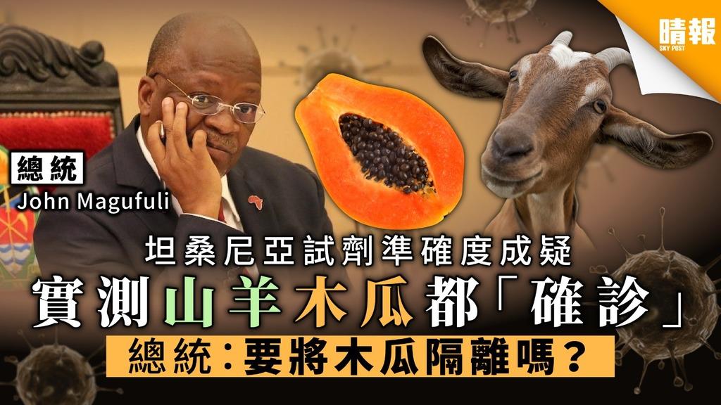 【劣質試劑】坦桑尼亞試劑準確度成疑 實測山羊木瓜都「確診」 總統:「要隔離木瓜嗎?」