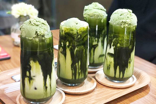 【韓國甜品】首爾花店Cafe「GREEN & CO」 主打抹茶雪糕green tea latte/多款甜品