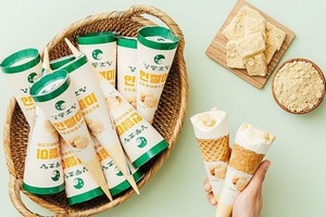 【韓國便利店】韓國便利店人氣新甜品 超香濃豆腐味軟雪糕配黃豆粉麻糬