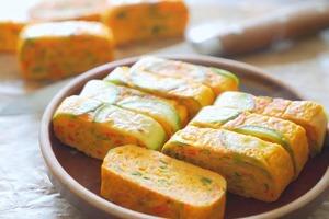 【早餐食譜】4步完成簡易雞蛋食譜  韓式雜菜煎蛋卷