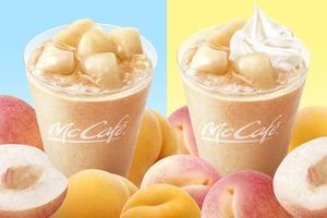 【日本麥當勞】日本麥當勞McCafé新期間限定 香甜多汁白桃果肉忌廉沙冰