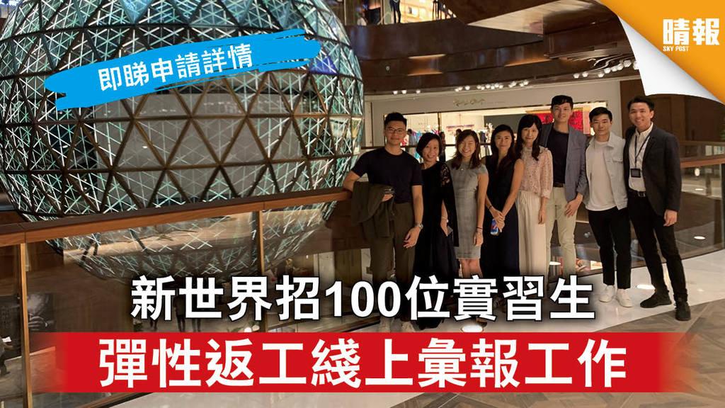 【支援大專生】新世界招100位實習生 彈性返工綫上彙報工作