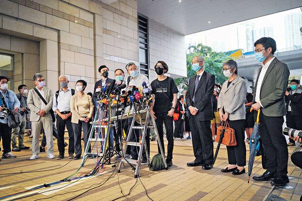 被控非法集結 民主派15人准保釋