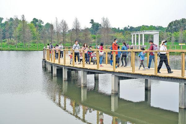 初夏遊濕地公園 賞花觀鳥親子樂