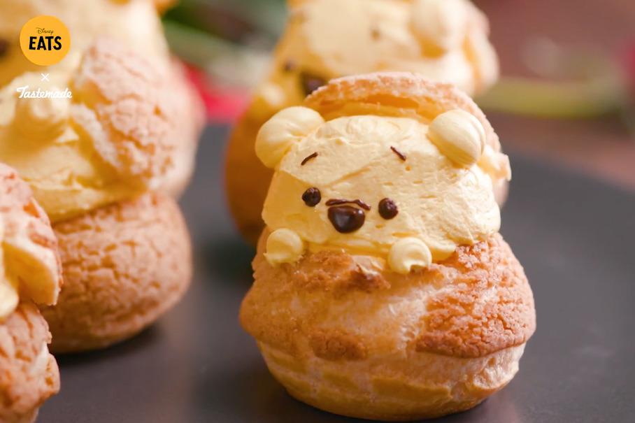 【Winnie the Pooh】迪士尼官方教學 教你自製可愛小熊維尼蜂蜜泡芙!