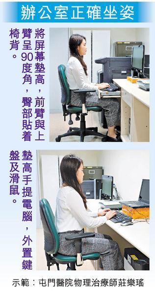 用手提電腦 坐姿差手痹無力脊椎傷