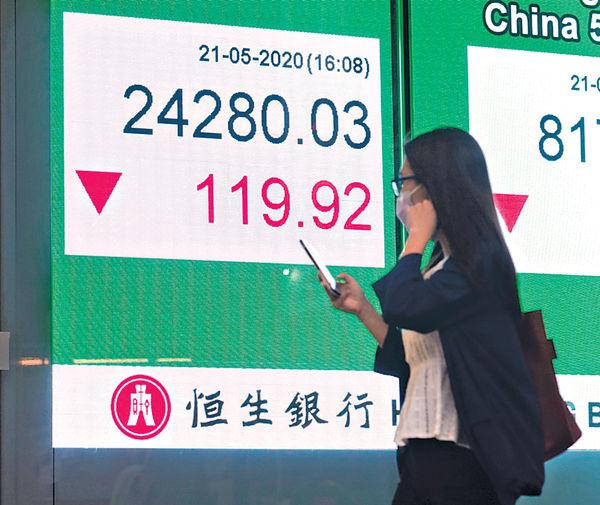港股高開回吐終止3連升 今日總理工作報告成焦點
