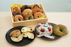 【網購bagel】網店新鮮手工製夾心Bagel 口感外韌內軟/推介芋泥Bagel蛋糕/芝士麻糬口味!