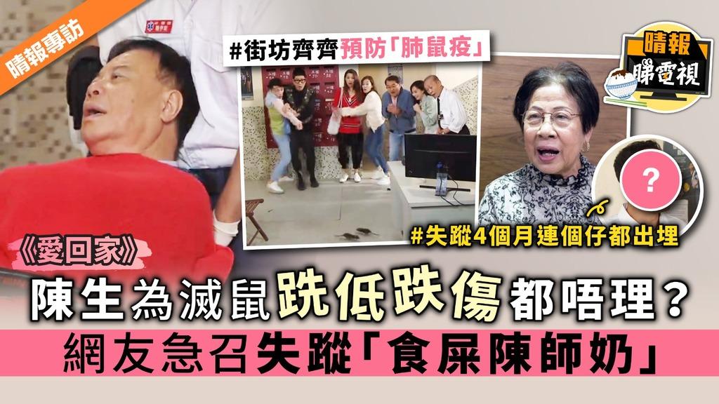 《愛回家》陳生為滅鼠跣低跌傷都唔理? 網友急召失蹤「食屎陳師奶」