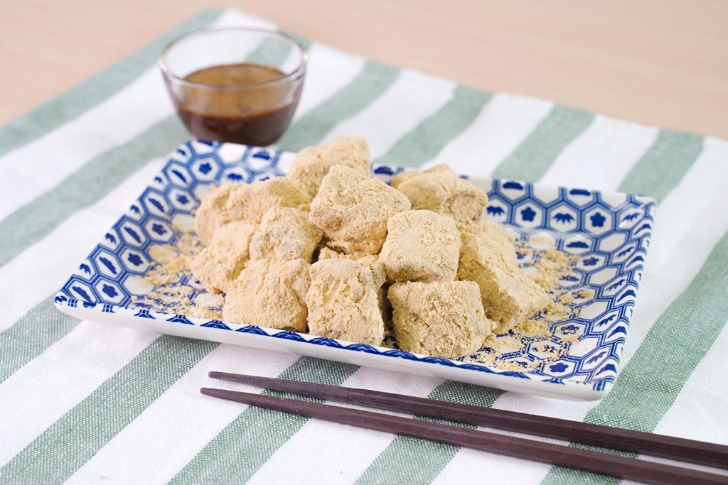 【甜品食譜】3步零失手煙韌甜品食譜  日式黃豆粉蕨餅