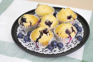 【鬆餅食譜】零難度4步完成簡易蛋糕食譜 鬆軟爆餡藍莓鬆餅