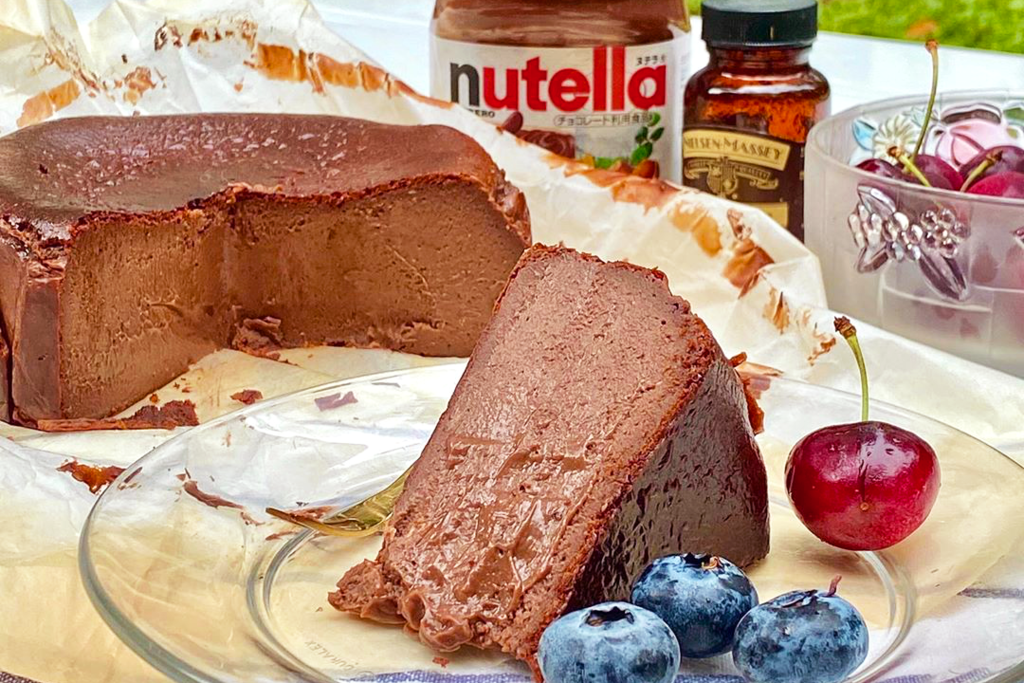 【Basque Cheesecake】泰國巴斯克芝士蛋糕店Nutella新口味 半融軟心榛子醬朱古力Cheesecake