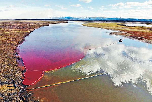 俄發電廠洩兩萬噸柴油 北極圈「血色」災難