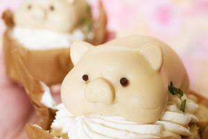 【名古屋甜品】日本精品蛋糕店推出新甜品 超可愛豬仔造型皇家奶茶蛋糕卷