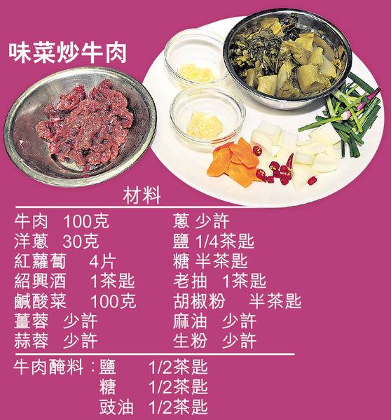 私房菜大廚教煮 零失手 味菜炒牛肉