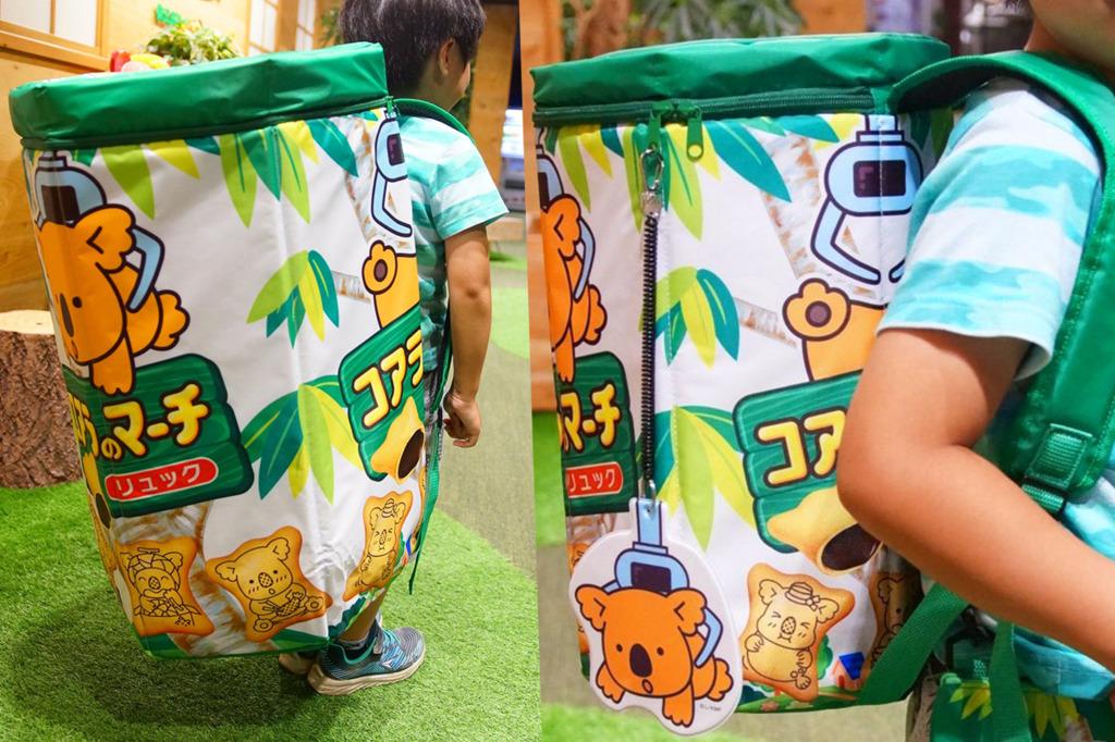 【樂天熊仔餅精品】日本遊樂場所推出超巨型樂天熊仔餅背包 比實際包裝大42倍!
