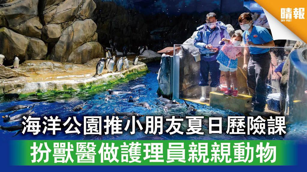 【暑期活動】海洋公園推小朋友夏日歷險課 扮獸醫做護理員親親動物