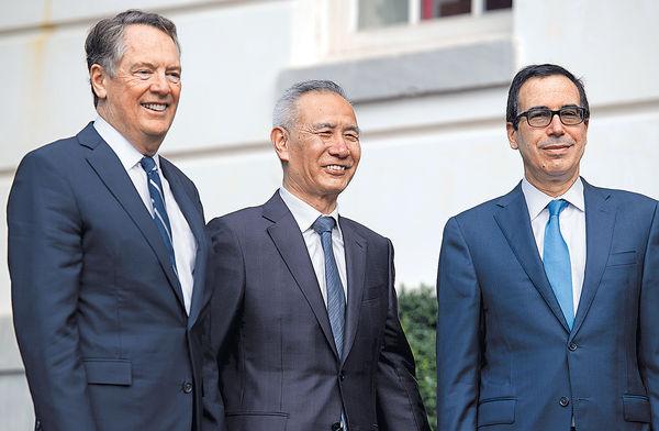 中美代表下月通電 商首階段貿協進展