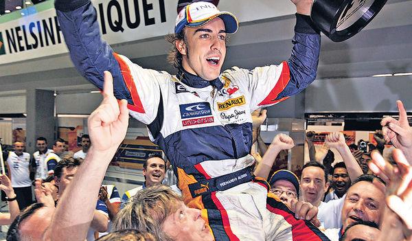 明年重返雷諾 阿朗素復出戰F1