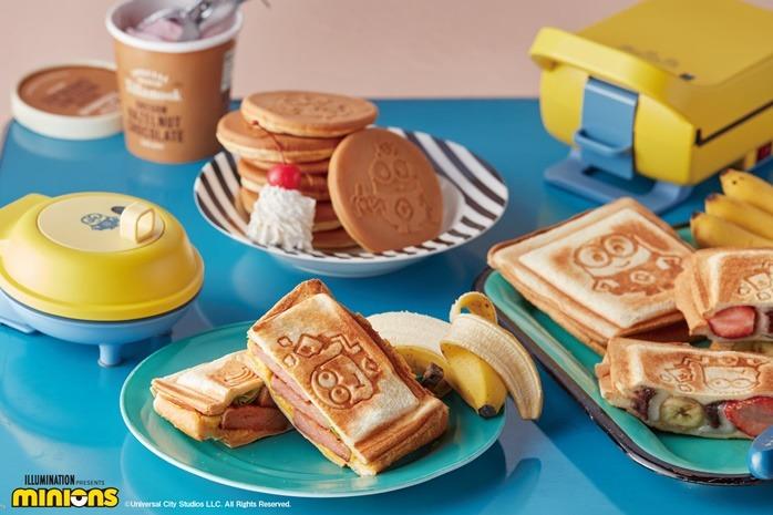 【廚具用品】日本récolte聯乘Minions新推出三文治機/鬆餅機 經典黃藍配色/超可愛Minions圖案pancake