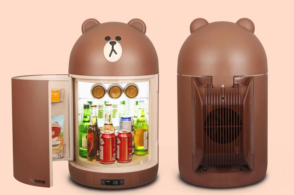 【Line Friends精品】有可愛熊大+莎莉!韓國Line Friends推出造型多功能冰箱 UV殺菌/手機遙距控制/藍芽音響