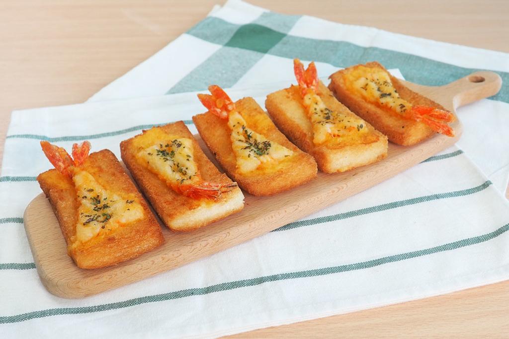 【懷舊小食】3步輕鬆整出懷舊小食  金黃香脆蝦多士食譜